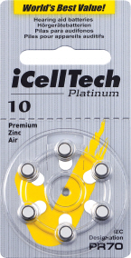 Baterie do naslouchadla iCellTech 10 Platinum