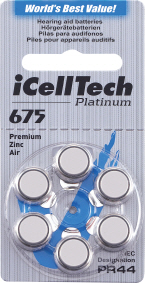 Baterie do naslouchadla iCellTech 675 Platinum