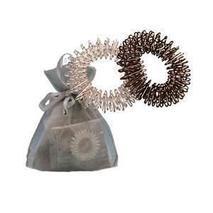 Modom Stříbrný a hematit akupresurní prstýnky - stříbrný sáček