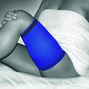 BOR 1430 L modrá Stehenní bandáž ACTIVE COLOR, L | Modrá - 1