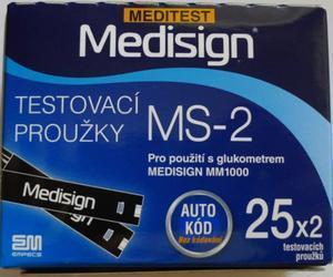 Proužky do glukometru MEDESIGN 50ks