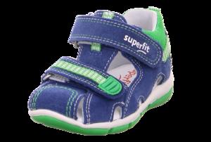 Superfit 6-00140-80 sandálky modré/zelené - 1