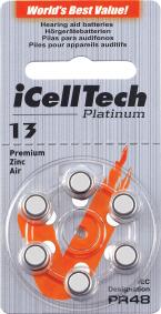 Baterie do naslouchadla iCellTech 13 Platinum