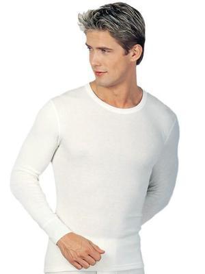 Medima triko pánské s dlouhým rukávem bílé 1092