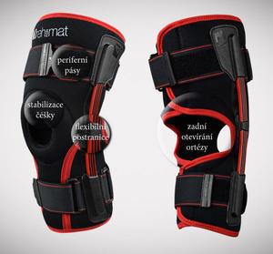 Ortéza kolene s listovými dlahami a zadním otevíráním  IB-SK/A REH4MAT - 1