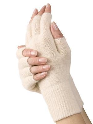 Medima rukavice termo s angorskou vlnou bez prstů, modrá