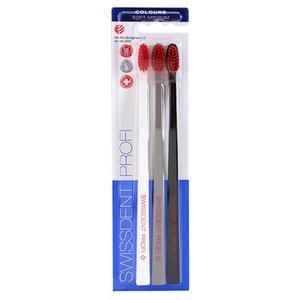 Swissdent Colours Trio soft medium zubní kartáčky 3 ks