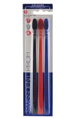 Swissdent Colours zubní kartáčky FANCY 2+1 (soft-medium)
