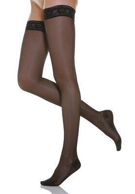 Kompresní stehenní punčochy s krajkou 140DEN RelaxSan 870 - 2