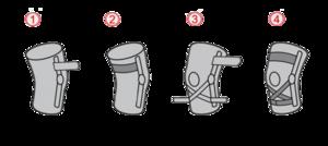 Ortéza kolene s listovými dlahami a oporou ACL - 5