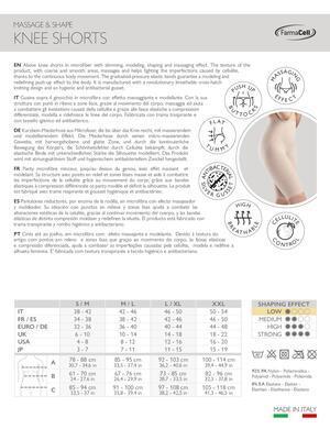 Zeštíhlující kalhotky nad kolena s masážním, modelujícím, tvarujícím push up efektem FC 312 - 7